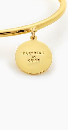 'Partners in crime' bangle - 30% OFF with code: CYBER30 http://rstyle.me/n/tx67en2bn #cybermonday