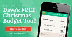 Dave Ramsey Christmas budget tool FREE