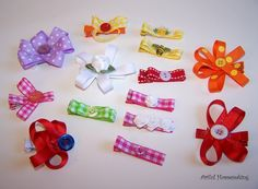 Ribbon-Covered Alligator Hair Clips {Tutorial}