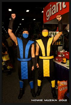 sub zero and scorpion from mortal combat sdcc 2012