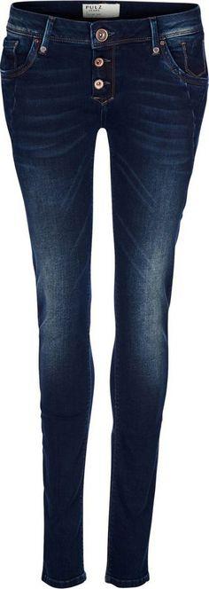 Pulz Jeans Skinny-fit-Jeans »Rosa Midtwaist« für 99,95€. Midwaist-Jeans im Skinny-Fit, Formstabil durch hochwertigen Stretch-Denim bei OTTO