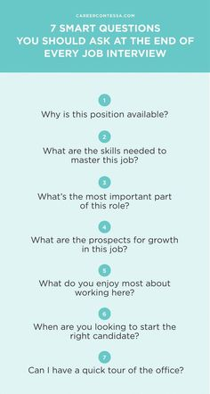 When you ask the right job interview questions, you're giving your potential employer proof that you're the candidate she needs. Make sure to ask these 7 questions at the end of your job interview. Interview Questions To Ask, Interview Skills, Job Interview Tips, Job Interviews, Prepare For Interview, Interview Nerves, Interview Preparation, Job Resume, Resume Tips