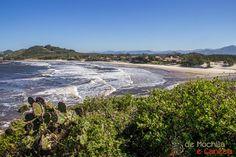 Praia da Ferrugem vista do alto Sambaqui