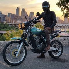 2003 Kawasaki KLR 650 built by @aleksnedich. This bike will do everything! Thank for letting me rip around on it. #themotocollective #cb_builds #croig #caferacersofinstagram #kawasaki #klr650 (at...