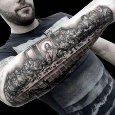 Christian tattoos, or all religious tattoos for that matter, are simple demonstrations of faith. While Christian tattoo ideas may seem counter-intuitive since body art is a secular concept, godly tattoo…View Post Bible Tattoos, God Tattoos, Badass Tattoos, Body Art Tattoos, Tattoo Art, Biblical Tattoos, Tattoo 2017, Cross Tattoos, Realism Tattoo