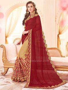 Georgette Fabric Golden Yellow Saree  #saree #sareeswag #tradiotional #printedsaree #FeelRoyal #festive