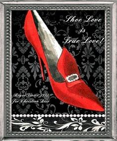 Dior Vintage Fashion Print  Shoe Love is True por ChezLorraines, $18,00
