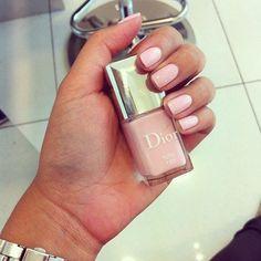 Chalky Pink Nail Polish   via Tumblr #dior,  chic