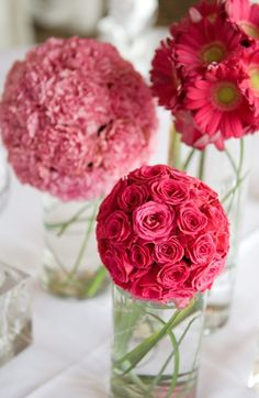 Just Bloomed pink flower balls.. Something I'm going to do this evening!!
