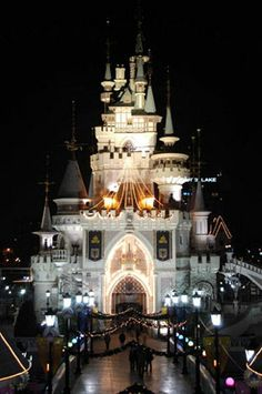 Trip Ideas- Lotte World, Seoul, at night. A must for dates!