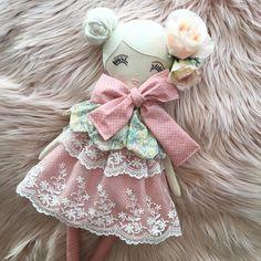 It was so wonderful to recreate this bespoke Hopeless Romantic deluxe bloom doll! I really loved this collection.   #handmade #handmadewithlove #handmadeinaustralia #handmadedoll #handmadedolls #bespokedolls #bespokeorder #keepsakedoll #deluxebloomdoll #dollmaker #hopelessromantic #girlsroom #girlsdecor #girlsinterior