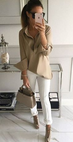 minimal neutral style. work wear.