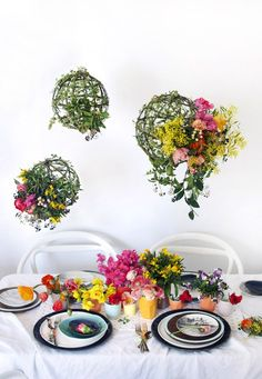 BLOOMING BEAUTY! How to style the ultimate spring brunch tabletop. Photo and styling by Lisa Tilse for We Are Scout.
