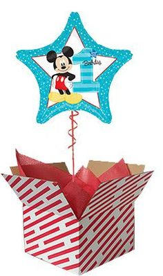 Mickey Mouse 1st Birthday Balloon Delivered 60th Birthday Balloons, Mickey Mouse 1st Birthday, Baby First Birthday, Gifts For 18th Birthday, 40th Birthday, 1st Birthdays, 50th, 21st, Big