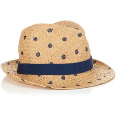 Jigsaw Polka Trilby ($38) ❤ liked on Polyvore featuring accessories, hats, headwear, blue, gorros, straw trilby hat, blue hat, trilby hat, straw trilby and blue straw hat