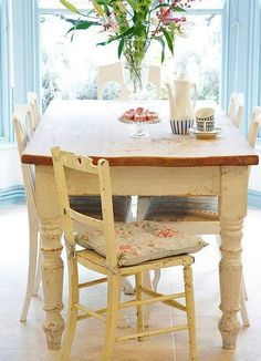 shabby chic decor dining room cottage styledaily dining table kitchen table cottage kitchens