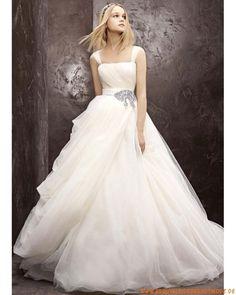 2013 Wunderschöne maßgeschneiderte Brautkleider aus Tüll und Satin Ballkleid