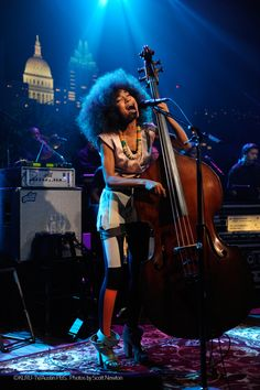 """Look at her shoes! Esperanza Spalding is wearing """"Mix/Cut/Paste"""" shoes of the SHOP COLLECTION Spring_Summer 2013 WHAT'S MORE ALIVE THAN YOU™."""