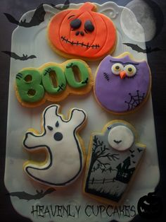 Halloween Cookies - A selection of decorated cookies for Halloween