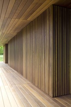 Gallery of Meditation Pavilion & Garden / GMAA - 7 Interior Architecture, Interior And Exterior, Interior Design, Garage Guest House, Pavillion, Timber Walls, Timber Cladding, Wood Ceilings, Tile Design