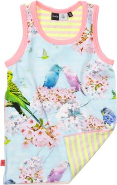 Molo Kids Cherry Blossom Vest (Joshlyn) from the Spring/Summer 2013 collection (known around here as 'the budgie print')