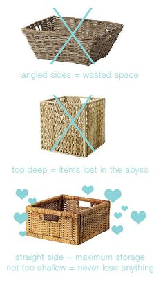 Great tips on organizing a pantry...baskets by hollanddina, via Flickr
