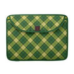 """#sleeves #macbooksleeves #scottish #green #tartan #zazzle #elenaindolfi  Scottish Macbook Pro Sleeves  •Water resistant, extra durable construction  •Ultra-plush, laptop-grade padded liner.  •Secure hoop and loop flap closure.  •Handmade with a sustainability focus in San Francisco, CA.  •Sized perfectly for MacBook/MacBook Pro 13"""" (14.25""""W x 10.9""""H x .75"""" D) & MacBook/Macbook Pro 15"""" (16""""W x 11.75""""H x .75"""")."""