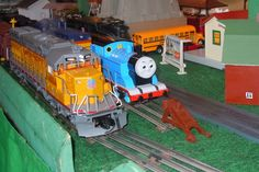Photo of Thomas and the Union Pacific in O Gauge