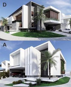 Likes, 31 Comments – House Exterior Designs ( on I… Modern Exterior House Designs, Best Modern House Design, Modern House Facades, Modern Villa Design, House Front Design, Dream House Exterior, Modern Architecture House, Facade Architecture, Exterior Design