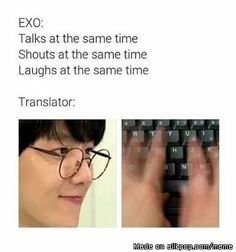 I love when I can relate to kpop memes cos honestly, they are So rELatESbLe Chanyeol Baekhyun, Exo K, K Pop, Young K, Xiuchen, Funny Kpop Memes, Meme Center, Kpop Groups, Shinee