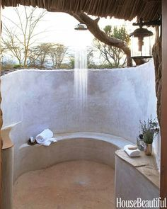Shower with a view. Suzanne Kasler