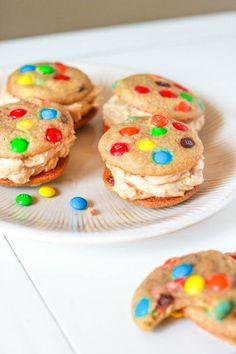 mini rainbow M  #cookies #food   http://www.loveitsomuch.com/