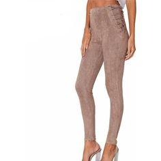 152c88a1b92be4 Lace Up High Waist Leggings - Trendsology Fashion Pants, Fashion Tips, High  Waist,