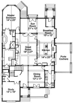 An English Manor Home HWBDO13910 French Country House Plan from
