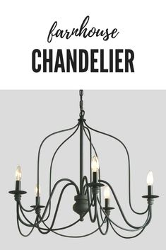 Rustic Farmhouse Wire Chandelier features a slender silhouette inspired by vintage French chandeliers. With five antique gray candelabra sockets and a matching canopy, this chandelier exudes a rustic grandeur when hung above the dining table.