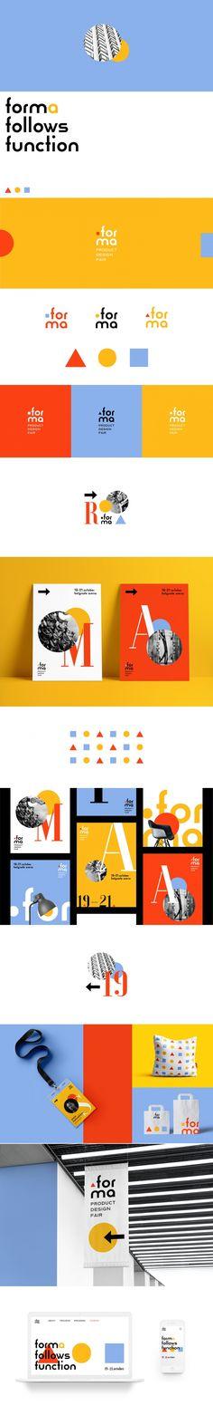 Forma brand identity by Anastasia Vlasenko Identity Design, Visual Identity, Brand Identity, Branding Your Business, Business Card Design, Corporate Branding, Web Inspiration, Graphic Design Inspiration, Web Design