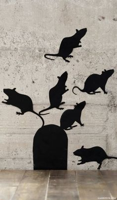 Spooky Rat Halloween Decals - Lia