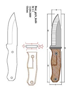 bckk.pdf — OneDrive Cool Knives, Knives And Swords, Fantasy Dagger, Knife Patterns, Pdf Patterns, Knife Drawing, Knife Template, Benchmade Knives, Plumbing Tools
