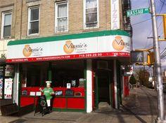Vinnie's Pizza in Brooklyn, NY. Vegan Italian eats.  needs more vegan cheese, just okay but nice variety of vegan options. 6.8/10