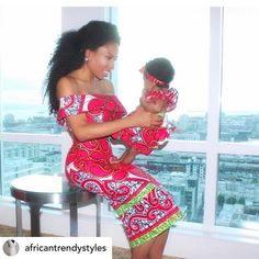 Choose from the best and beautiful matching African ankara styles for mother and daughter. These ankara styles are meant for stunning mother and daughter African Attire, African Wear, African Women, African Dress, African Outfits, African Style, African Beauty, Beautiful Ankara Styles, Ankara Dress Styles