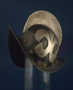 Morion Helmet Germany, Circa 1600 Steel & copper: forged and nielloed.