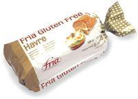 Fria Havre. Glutenfritt brød som finnes i frysedisken i matvarebutikker med godt utvalg eller der det er etterspørsel. Finnes også i helsekostbutikker.