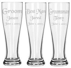Hey, I found this really awesome Etsy listing at https://www.etsy.com/listing/200268322/set-of-3-personalized-etched-groom-and