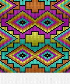 Beading Patterns Free, Bead Loom Patterns, Cross Stitch Patterns, 3d Foto, Tapestry Crochet Patterns, Graph Paper Art, Tapestry Bag, Beaded Bags, Crochet Purses