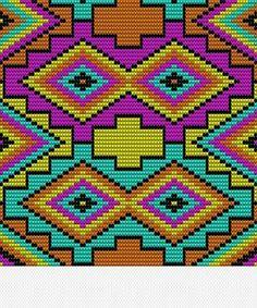 Beading Patterns Free, Bead Loom Patterns, Cross Stitch Patterns, 3d Foto, Tapestry Crochet Patterns, Graph Paper Art, Tapestry Bag, Crochet Purses, Crochet Chart