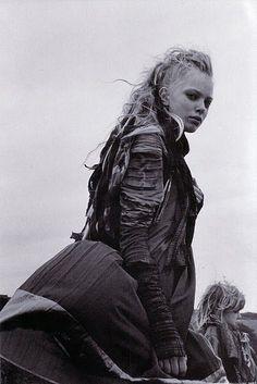 mad max locks....apocalypse fashion, apocalyptic dress, post-apocalyptic/dystopian fashion, post-apocalypse