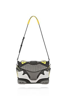 EXCLUSIVE LARGE SNEAKER SLING IN EXHAUST AND LIMONITE - Shoulder Bags Women - Alexander Wang Online Store