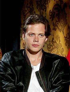 Bill Skarsgård during an interview for the Netflix series Hemlock Grove