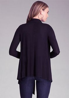 bebe Drape Shawl Cardigan - I wear a black cardigan with almost everything. My daily staple
