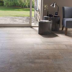 Carrelage sol et mur beige 30 x 60 cm Abbiati - CASTORAMA Outdoor Decor, House, Outdoor Tiles, Tile Floor, Deco, House Styles, Sweet Home, Flooring